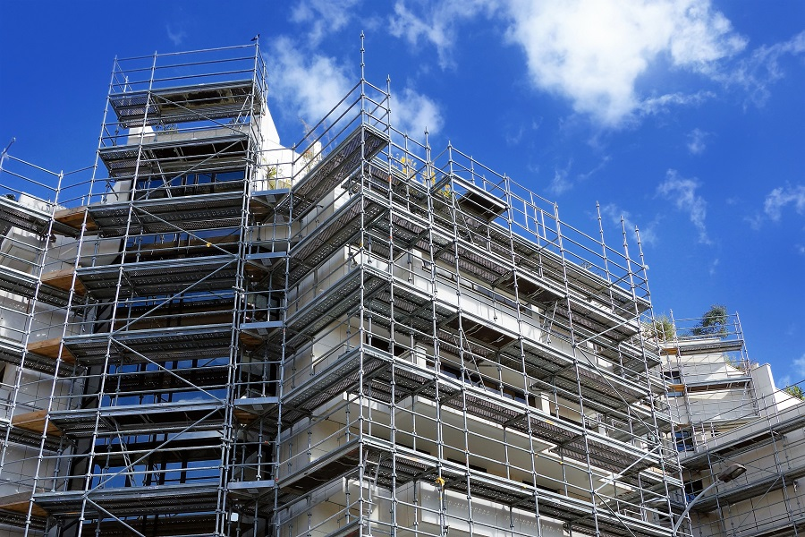 Gerüstbau Foto von Neuhäuser Qualitätsdächer